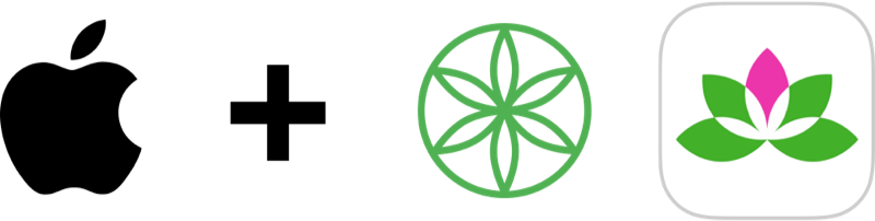Partnership Logos: Apple, Gaiam, Yoga Studio